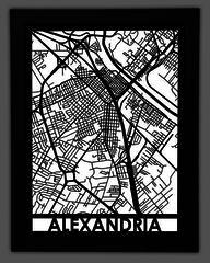 "Maps - 18x24"" Stainless Steel City Maps - Machine Artist Kentucky Road Map Laser Cutter on"